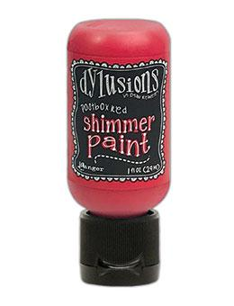 Dylusions Shimmer Paint Postbox Red, 1oz Paint Dylusions