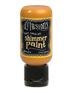 Dylusions Shimmer Paint Pure Sunshine, 1oz Paint Dylusions