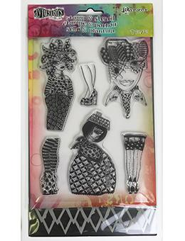 Dylusions Stamp & Stencil Set - Black Diamonds