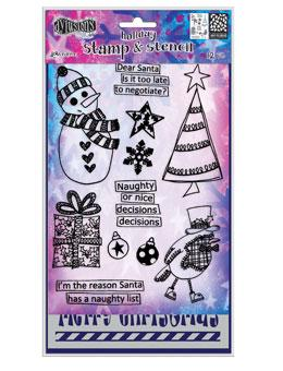 Dylusions Stamp & Stencil Set - Dear Santa Stamp & Stencil Sets Dylusions
