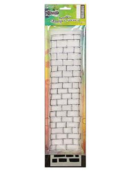 Dylusions Stamp & Stencil Brickwork Border Stamp & Stencil Sets Dylusions Large 3 x 12 inches