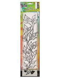 Dylusions Stamp & Stencil Leaf Border Stamp & Stencil Sets Dylusions Large 3 x 12 inches