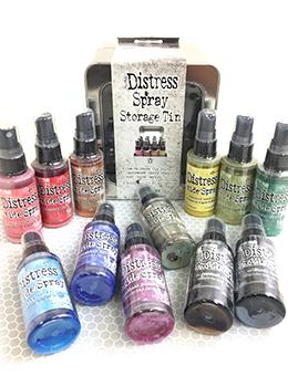 Tim Holtz Distress® Oxide® Ink Spray 12pk with Storage Tin #3 Oxide Spray Tim Holtz