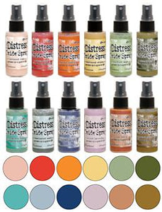 Tim Holtz Distress® Oxide® Ink Spray 12pk with #4 Oxide Spray Tim Holtz
