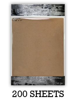"Distress® Kraft Heavystock 8.5"" x 11"", 200pk Surfaces Distress"