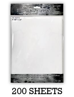 "Distress® White Heavystock 8.5"" x 11"", 200pk Surfaces Distress"