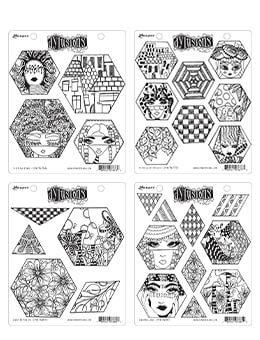 Dylusions Hex Stamp Bundle Bundles Dylusions