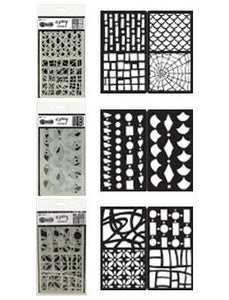 Dylusions 3pk Stencil Set