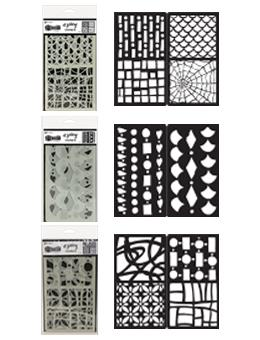 Dylusions 3pk Stencil Set Bundles Dylusions