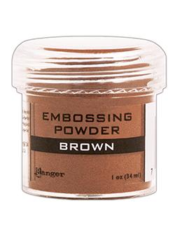 Embossing Powder Brown, 1oz Jar Embossing Powders Ranger Brand