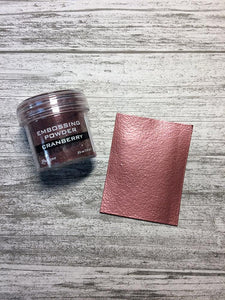 Embossing Powder Cranberry Metallic Powders Ranger Ink