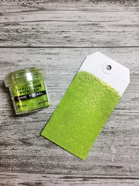 Embossing Powder Lime Tinsel, 1oz Jar Powders Ranger Ink