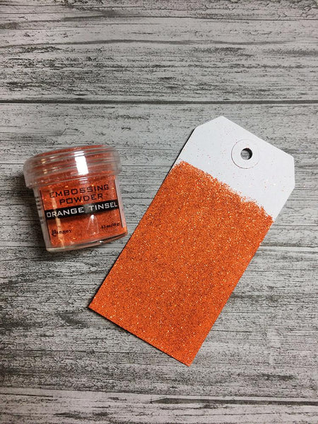Embossing Powder Orange Tinsel, 1oz Jar Powders Ranger Ink