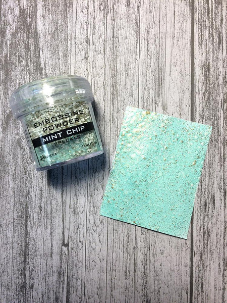 Embossing Speckle Powder Mint Chip, 1oz Powders Ranger Ink