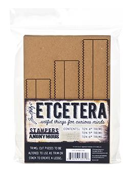 Tim Holtz Stampers Anonymous Etcetera Pinking Trims - Chipboard Trimmings Tim Holtz Other