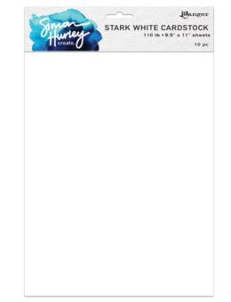 NEW! Simon Hurley create. Stark White Cardstock