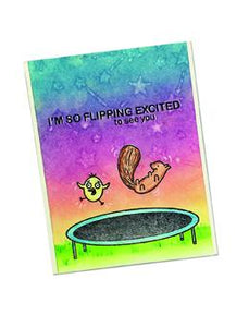 Simon Hurley create. Photopolymer Stamp Trampoline Friends Stamps Simon Hurley