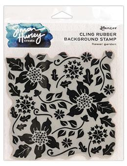 NEW! Simon Hurley create. Background Stamp 6x6 Flower Garden