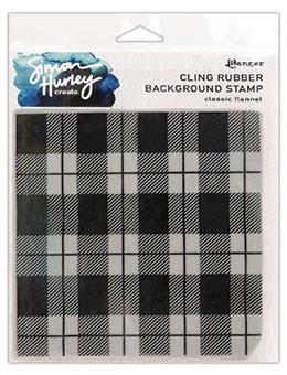 NEW! Simon Hurley create. Background Stamp 6x6 Classic Flannel