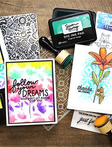 Simon Hurley create. Background Stamp Watercolor Blooms Stamps Simon Hurley