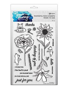Simon Hurley create. Photopolymer Stamp Flower Picking Friends Stamps Simon Hurley