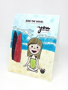 Simon Hurley create. Photopolymer Stamp Surf's Up Stamps Simon Hurley