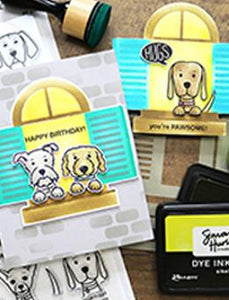 Simon Hurley create. Photopolymer Stamp Puppy Puns Stamps Simon Hurley