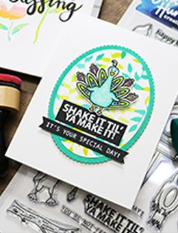 Simon Hurley create. Photopolymer Stamp Bird Buddies Stamps Simon Hurley