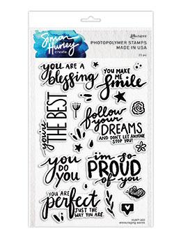 Simon Hurley create. Photopolymer Stamp Encouraging Words Stamps Simon Hurley