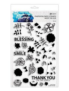 Simon Hurley create. Photopolymer Stamp Doodle Florals Stamps Simon Hurley