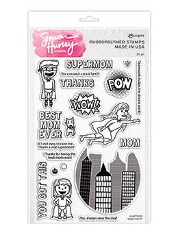 Simon Hurley create. Photopolymer Stamp Supermom! Stamps Simon Hurley