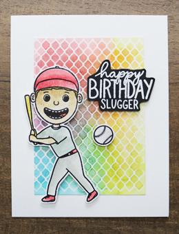 Simon Hurley create. Photopolymer Stamp Home Run! Stamps Simon Hurley