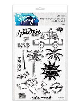 Simon Hurley create. Photopolymer Stamp Road Trip Stamps Simon Hurley