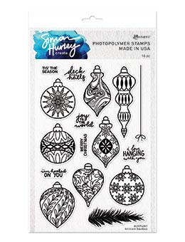 Simon Hurley create. Photopolymer Stamp Brilliant Baubles Stamps Simon Hurley