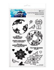 Simon Hurley create. Photopolymer Stamp Posh Poinsettas Stamps Simon Hurley