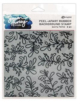 Simon Hurley create. Background Stamp Swirly Ferns Stamps Simon Hurley