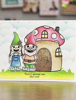 Simon Hurley create. Photopolymer Stamp Gnome Party! Stamps Simon Hurley