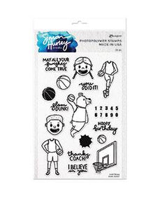 Simon Hurley create. Photopolymer Stamp Slam Dunk Stamps Simon Hurley