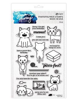 Simon Hurley create. Photopolymer Stamp Cool Cats Stamps Simon Hurley Stamp