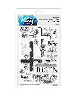 Simon Hurley create. Photopolymer Stamp He is Risen! Stamps Simon Hurley Stamp