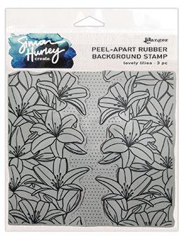 Simon Hurley create. Background Stamp Lovely Lilies Stamps Simon Hurley