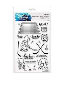 Simon Hurley create. Photopolymer Stamp Hockey Buddies Stamps Simon Hurley Stamp