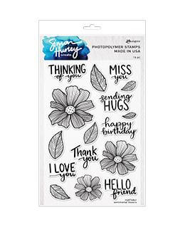 Simon Hurley create. Photopolymer Stamp Sentimental Flowers Stamps Simon Hurley Stamp