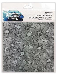 Simon Hurley create. Background Stamp Sketched Bouquet Stamps Simon Hurley