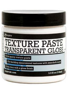 Ranger Texture Paste Transparent Gloss, 4oz Medium Ranger Brand