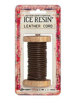 ICE Resin® Leather Cord 2.5mm Brown Leather Cord ICE Resin®