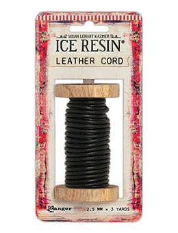 ICE Resin® Leather Cord 2.5mm Black Leather Cord ICE Resin®