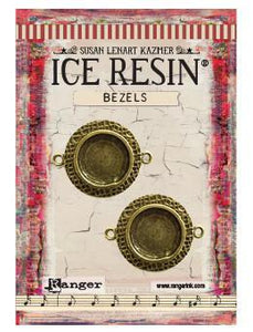 ICE Resin® Milan Bezels: Antique Bronze Small Circle, 2pcs.