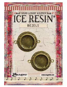 ICE Resin® Milan Bezels: Antique Bronze Small Circle, 2pcs. Bezels & Charms ICE Resin®