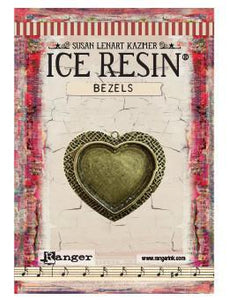 ICE Resin® Milan Bezels: Antique Bronze Medium Heart, 1pc.